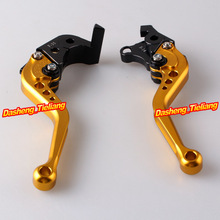 Racing Short Brake Clutch Levers For Suzuki GSXR 1000 2007 2008 K7 CNC Aluminum Alloy Gold(China)