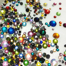 720pcs 20Gram MIX Sizes And Colors Iron-on DMC HOTFIX Rhinestone Crystal Strass Bead Bling 3D Nail Art Supplies Decorative Stone