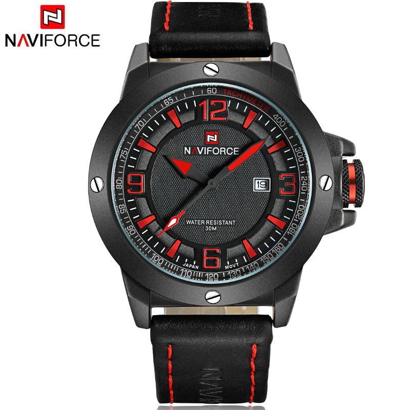 2017 NAVIFORCE relogio masculino Quartz Sports Watches men Casual relojes Leather wristwatch Army Military  hombre mens clock<br><br>Aliexpress