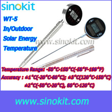 Wholesales 2 pieces Probe Type Solar Energy  Digital Thermometer - WT-5