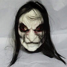 Halloween costumes Mask  Black Long hair Cosplay ghost mask Blooding Ghost  Halloween Mask