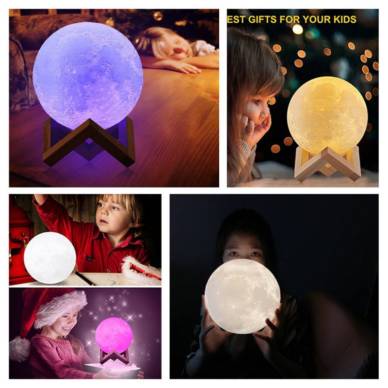 3D Moon Lamp with Touch Control