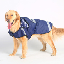 Golden Retriever Samoyed husky large dog raincoat legs waterproof portable pet dog clothes