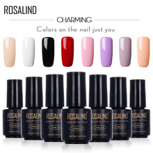 ROSALIND 7ml Gel Nail Polish Motion Art Nail Gel Polish UV LED Primer Semi Gel varnish for Nails Stamping Sexy Lady Gel(China)