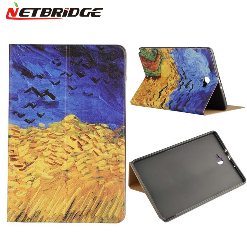 Tablet Case For Samsung Galaxy Tab A 10.1 P585 PU Leather Case Shockproof Ultra-slim Colorful Print Stand Cases Protective Cover<br><br>Aliexpress
