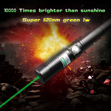 520NM Greatest Portable Green Laser pointer  Burning Laser Pointer Pen 1000MW burn cigars plastic papers greatest laser beam