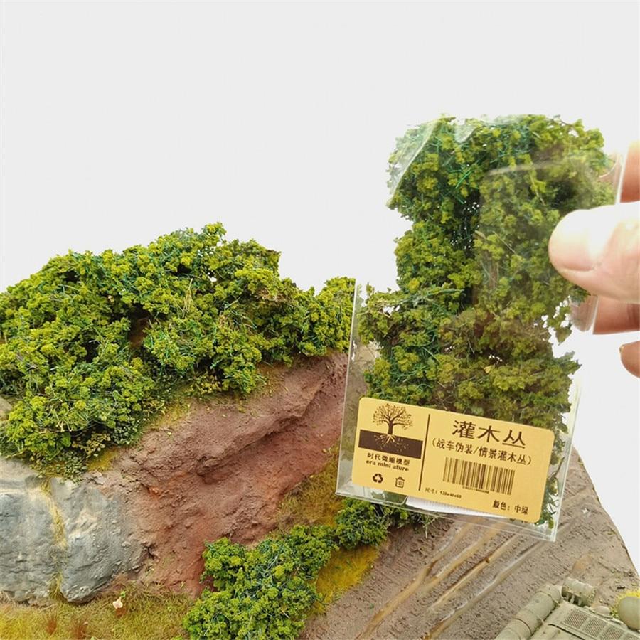 50 Green Bushes Shrub OO HO Scale Architecture Model Scenery Railroad Layout