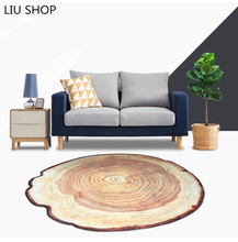LIU tree round vantgae carpet ring blanket way cat pad computer chair table mats living room bedroom rug garden pad(China)