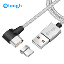 Elough E07 USB Type C Magnetic Charger Data Cable Huawei Honor 8 Mobile Phone Support PD Quick Charge Max 3A Magnet Type-C