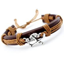 Field Ice Hockey Player Soccer Football Volleyball Lacrosse Gymnastics Tennis Golf Calisthenics Charm Leather Bracelets Jewelry(China)