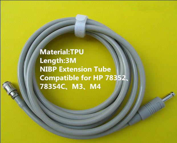 Free Shipping NIBP Extension Tube NIBP Hose Tube for Philips M3 M4,78352 Monitor,NIBP Cuff Connector TPU 3M<br>