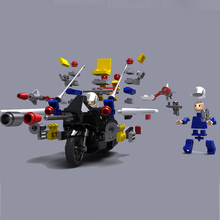 UCanaan Transmoto New Interlocking Bricks RC Motorcycle Electric Remote Control Charge Car Toys Puzzle Assembly Educational Toy(China)