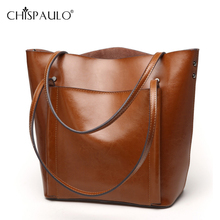 Genuine Leather Tote Bag Luxury Handbags Women Bags Designer Famous Brand Retro Shoulder Bag Oil wax Messenger Bag sac a main(China)