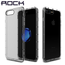 Case+Tempered Glass for iPhone 7/7 Plus Original ROCK Fence Series Air Cushion Drop Protection Brand Phone Cover+Tempered glass