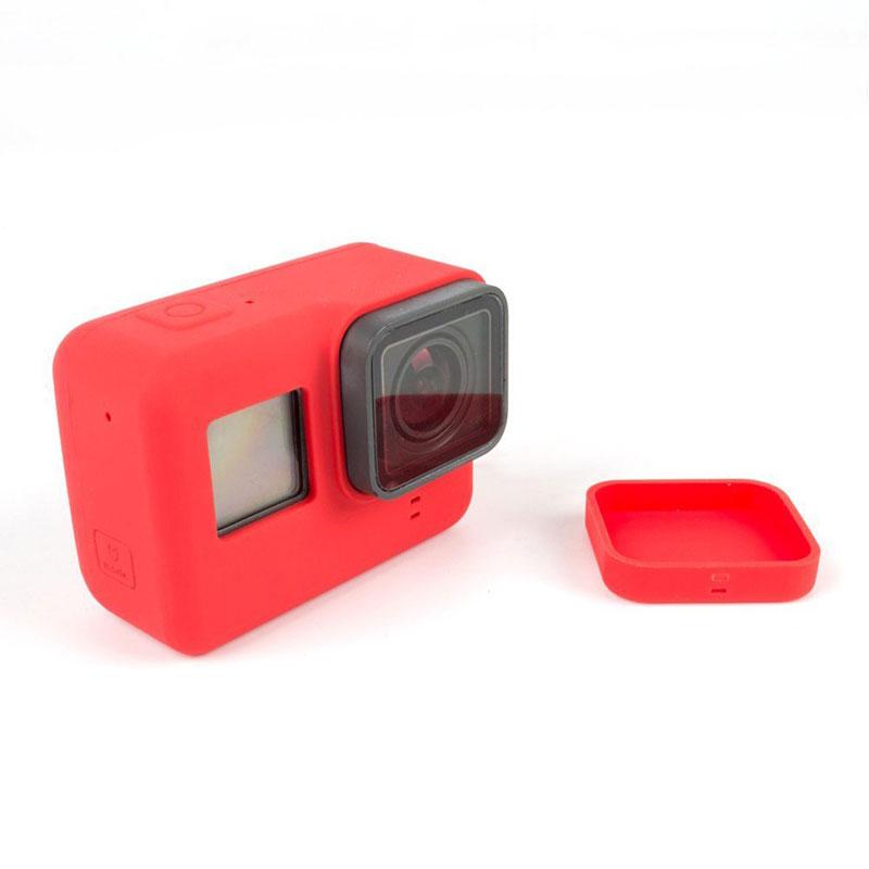 Go Pro Accessories Action Camera Case Protective Silicone Case Skin +Lens Cap cover for GoPro Hero 6 5 Black Hero 6 Camera