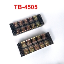 5pcs/lot TB Terminal Block TB-4505 Panel Mounted Terminal Connector 600V 45A 5 Position(China)
