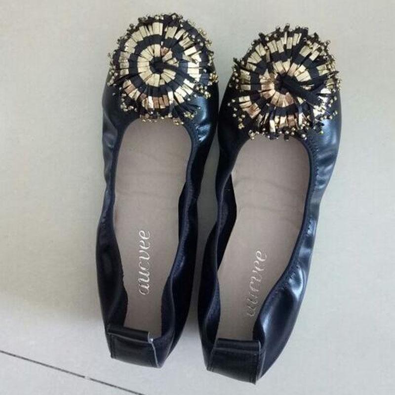 Women Shoes Flats Genuine Leather Women's Moccasins Tassel Slip On Female Footwear Pink Black Loafers Soft Leisure Ballet Flats (23)