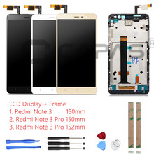 Tested For Xiaomi Redmi Note 3 Pro LCD Display + Frame Touch Screen Panel Redmi Note 3 LCD Display Digitizer Complete Parts