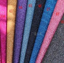 0.914*1.35M  PER PCS DIY High Quality Glitter synthetic leather &Fabric 0.914*1.35MPER PCS( Total 80 Colors Available)