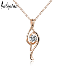 Iutopian Brand New Arrival Musical Note Pendant Necklace Colar With Top Quality Cubic Zirconia #RG76444