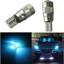 Auto car T10 LED Bulb HID XENON White light CANBUS W5W 5630 6-SMD parking fog light Lamp 194 192 158 hot selling