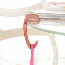 Removable Plastic Bag Hook Portable Table Purse Bag Hook Hanger Holder Handbag Hanger Green Brown Pink Blue 4 Colors