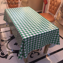 Waterproof Table Cloth Grid Plastic PVC Tablecloth Oilproof Dining Table Dust Cover For Party Home 137*100cm,137*137cm(China)