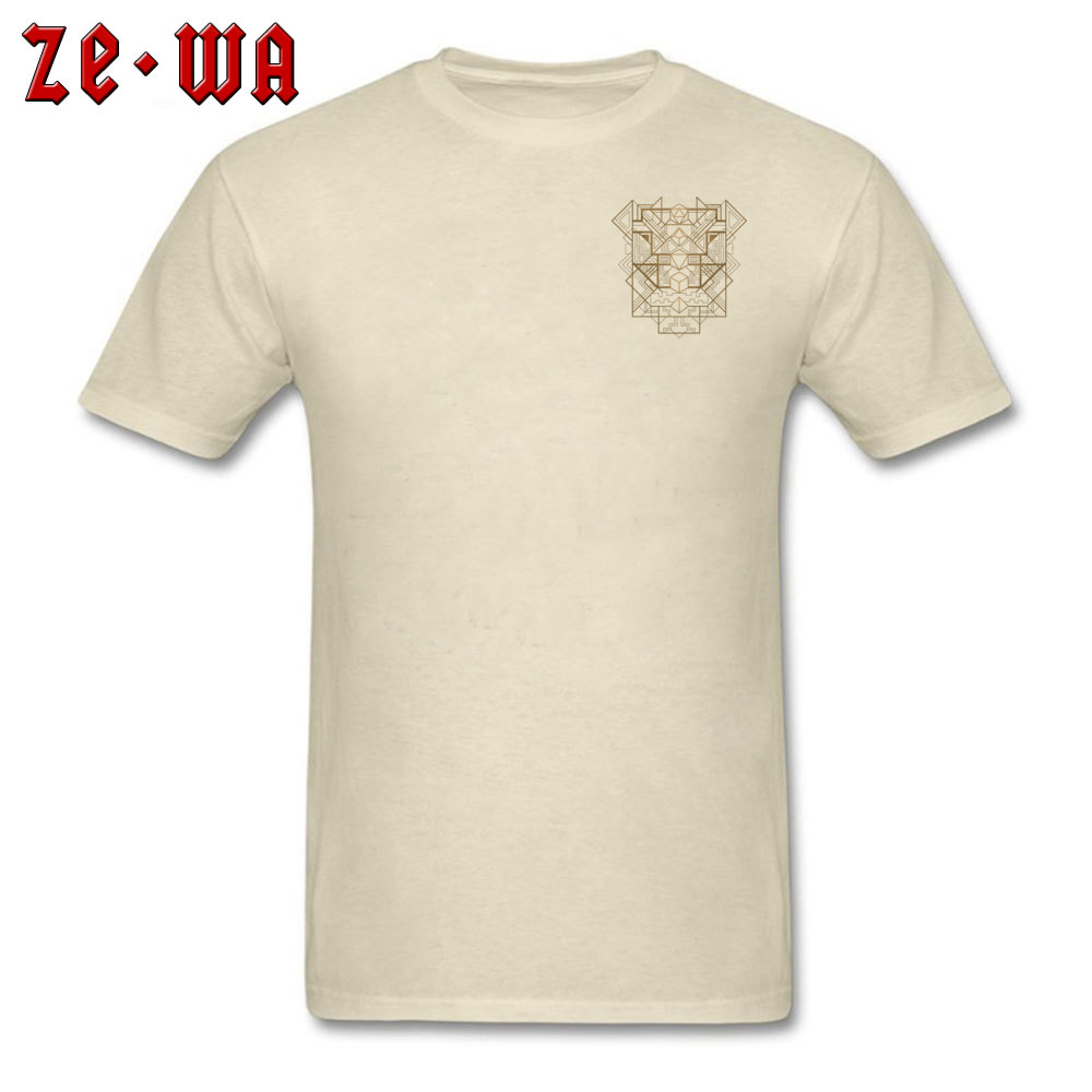 Dice Deco Gold 2034 T Shirts Fashion Short Sleeve Normal 100% Cotton Round Neck Men Tees Casual Sweatshirts Autumn Dice Deco Gold 2034 Chest beige