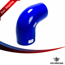 "PQY RACING Free shipping- BLUE 3"" 76mm 90 Degree Elbow Silicone Hose Pipe Turbo Intake PQY-SH9030(China)"