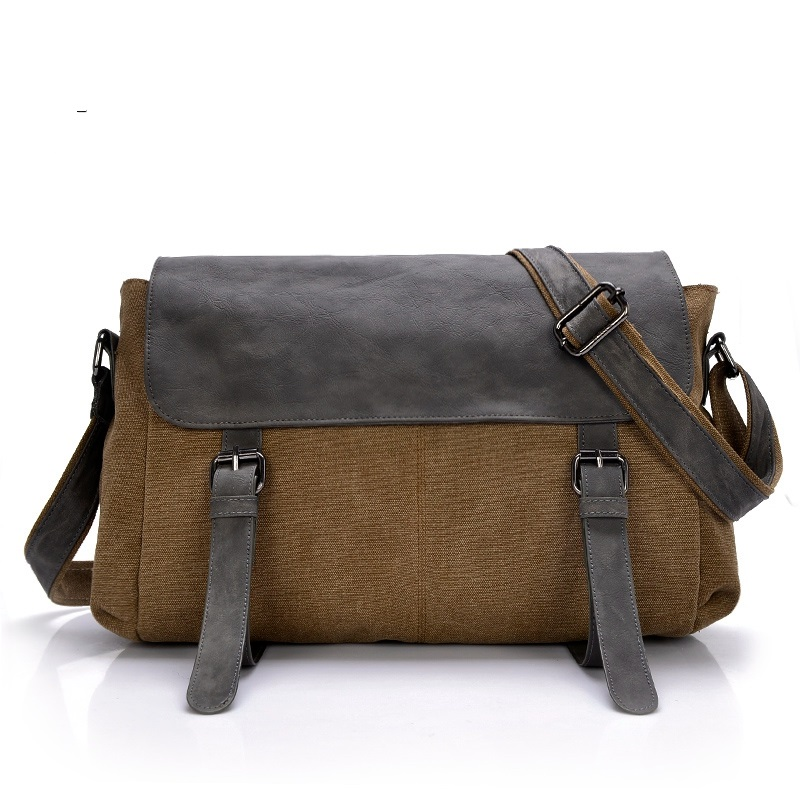 2016 New spring mens canvas shoulder bag messenger bag leisure messanger bag wholesale 1119#<br>