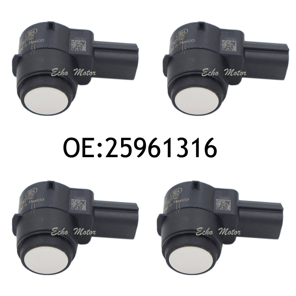 New 4pcs Parking Sensor 25961316 For Opel Buick Cadillac Chevrolet GMC 2009-2010 25962147,25961317,21995586,15239247,25961321(China)