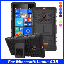 Luxury Hybrid Shock Proof Silicone + Hard Shell Cell Phone Case Cover For Microsoft Lumia 435 Dual SIM Case Back Cover & Gift