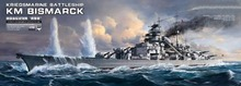 MENG PS-003  1/700 Scale  Kriegsmarine Battleship KM Bismarck Plastic Assembly Model kit