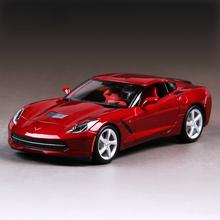 1:18 diecast Car Corvette C7 Z51 Red 1:18 Diecast Car Metal Racing Vehicle Play Collectible Models Sport Cars toys For Gift