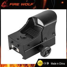 FIRE WOLF Tactical hunting Holographic riflescope  1x22 red dot 21mm  Airsoft Red Dot Scope