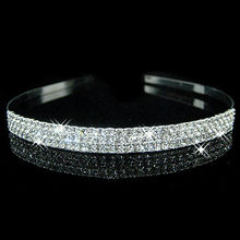 Hot fashion female girl rhinestone crystal Headband bandage on his head Bride Wedding Tiara crown hair hoop accessories YW007(China)
