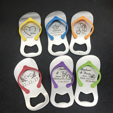 20pcs personalized Wedding gift wedding favor annual meeting of Slipper bottle opener, Gift box packing(China)