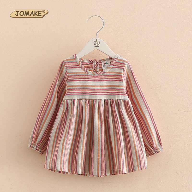 Spring Kids Dresses New Style Multicolor Striped Kids Long Sleeve Dress For Girls Infant Casual Girls Clothes Princess Costumes<br><br>Aliexpress