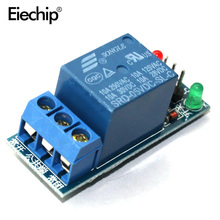 10pcs/LOT Relay module 1 road 5 v low level trigger Relay expansion board