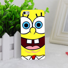 A2222 Sponge Bob Square Pants Transparent Hard Thin Case Cover For Apple iPhone 4 4S 5 5S SE 5C 6 6S 6Plus 6s Plus