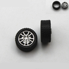 30pcs 2*18mm tamiya rubber Wheel hot wheel toy car plastic wheel Toy Accessories Technology Model Parts/rc/baby toys 182AH(China)