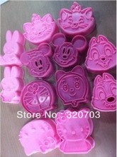 12 pcs/set Cookie cutter 3D cake animal mold, Vegetable mould, cake cutter, baking mould (A team)