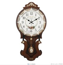 TUDA Kailai watches creative fashion shell wood clock room European style of the ancient art of pendulum