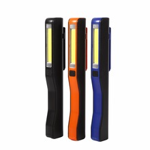 Portable Led Torch Light USB Rechargeable Led Hand Torch Rechargeable Magnet Clip Work Light Orange/Black/Blue Inspection Light(China)