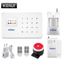 New Kerui G18 Android ios Control GSM Home Security Alarm System with Wireless Door Alarm PIR Motion Detector(China)