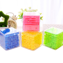 Hot! OCDAY 3pcs 3D Stereo Mini Maze Rolling Ball Rotating Magic Square Puzzle Game Children Adult Learning Educational Toys New