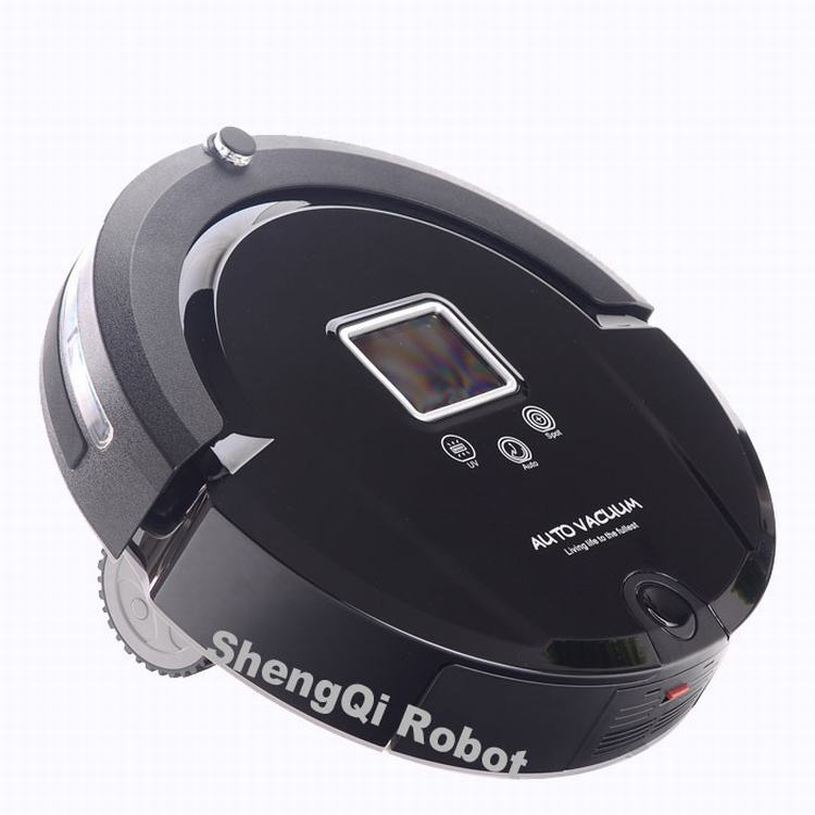 Solar powered vacuum cleaner,The low price + high quality robo vacuum cleaner A320 with side brush long working time,low noise(China)