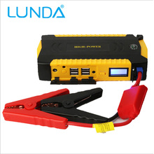 LUNDA 4USB 19B 600A  Portable Car Jump Starter Emergency Power Bank For Petrol/Diesel Multi-function Booster Car Charger Battery