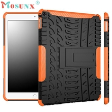 Del Full Protection Armor Hybrid PC+TPU Back Case Stand Cover For iPad Air 2 iPad 6 Mar15