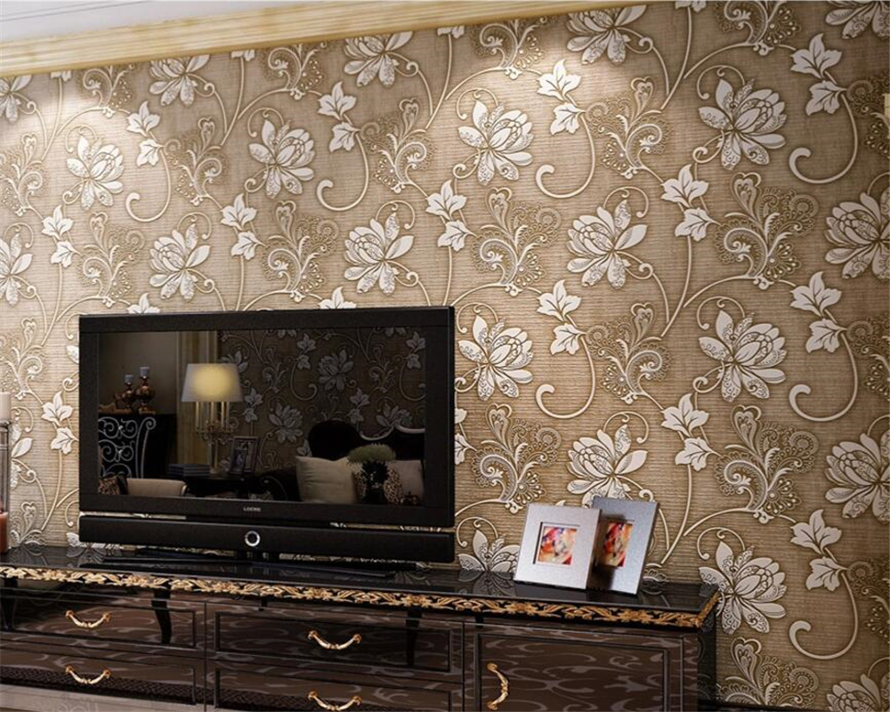 Beibehang 3D Stereo Relief Wallpaper Thicker Bedroom Living Room TV Sofa Background Wall Modern Butterfly Flower 3d Wallpaper<br>